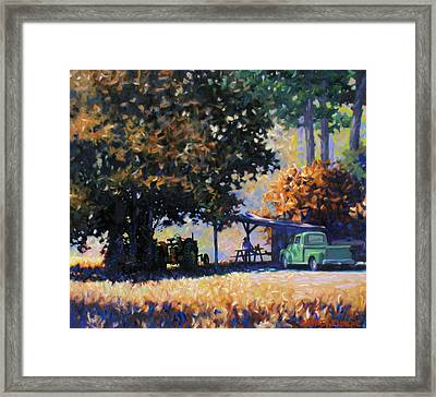 Lunch Framed Print by Kevin Lawrence Leveque