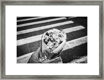 lunch on the go lamb gyro kebab downtown New York City USA Framed Print