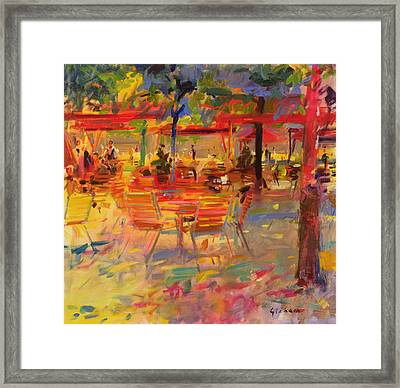 Lunch On The Terrace Framed Print