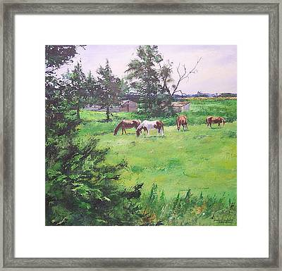 Lunch Time Framed Print by Douglas Trowbridge