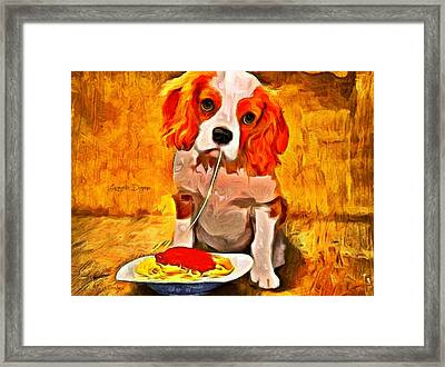 Lunch Time Framed Print by Leonardo Digenio