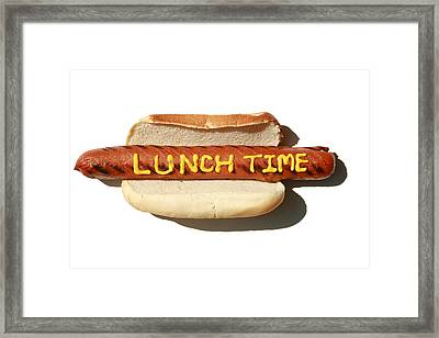 Lunch Time Framed Print by Michael Ledray
