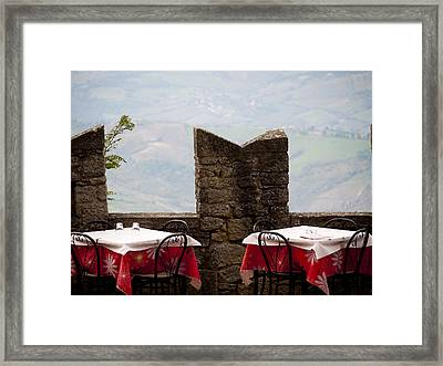Lunch With A View Framed Print by Rae Tucker