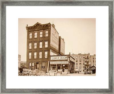 Framed Print featuring the photograph Lunchroom  by Cole Thompson