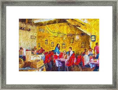 Lunchtime - Country Cafe Framed Print by Barry Jones