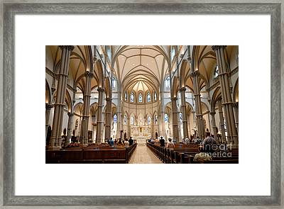 Lunchtime Mass At Saint Paul Cathedral Pittsburgh Pa Framed Print