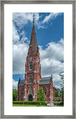 Framed Print featuring the photograph Lund All Saints Church by Antony McAulay