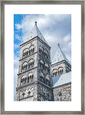 Framed Print featuring the photograph Lund Cathedral In Sweden by Antony McAulay