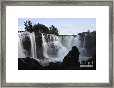 Lundbreck Falls Evening Light Framed Print by Bob Christopher