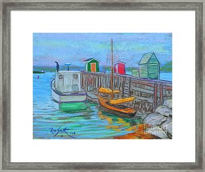 Lunenburg Waterfront  Framed Print