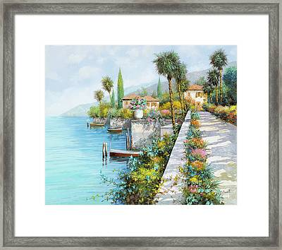 Lungolago Framed Print by Guido Borelli