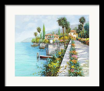 Italy Village Framed Prints