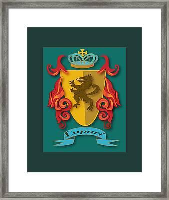 Lupari Family Crest Framed Print
