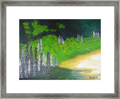 Lupens On Buccaneer Road Framed Print by Rae  Smith