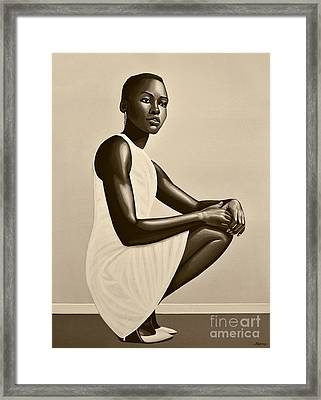 Lupita Nyong'o Framed Print by Paul Meijering