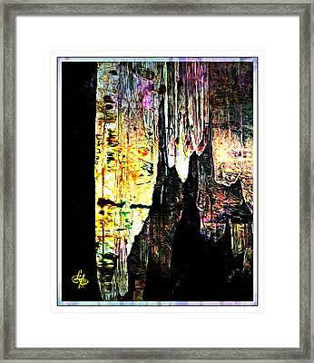 Luray Cavern Abstract 2 Framed Print