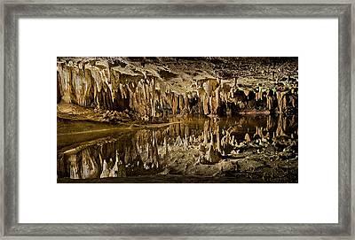 Luray Caverns - Virginia - Reflections At Dream Lake Framed Print by Brendan Reals