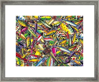 Lure Collage Framed Print by Jon Q Wright