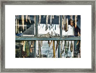 Lure Shack Framed Print by John Greim