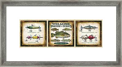 Lure Three Piece Panels Framed Print by JQ Licensing Jon Q Wright