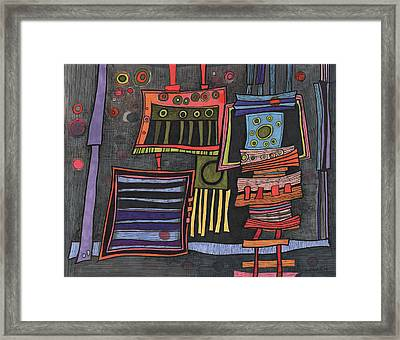 Lurking Under The Bed Framed Print