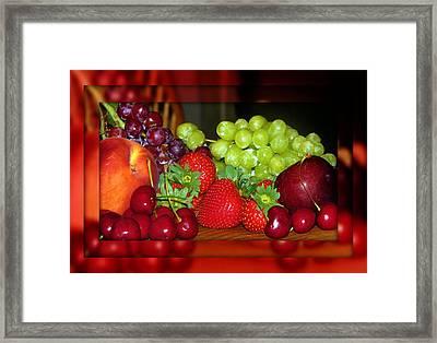 Luscious Framed Print by Dottie Dees
