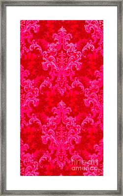 Luscious Neo Baroque Hot Pink Bubblegum Damask Framed Print