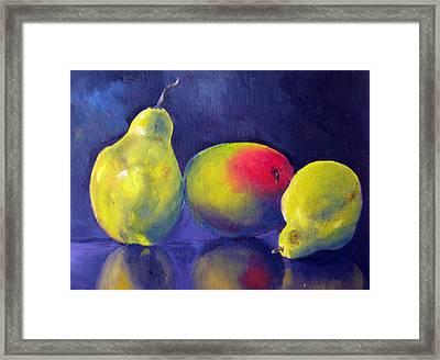 Luscious Trio Framed Print by Lisa Boyd