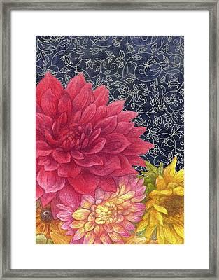 Lush Fall Botanical Framed Print