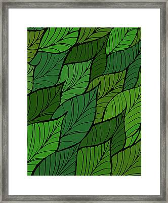 Framed Print featuring the drawing Lush by Kristian Gallagher