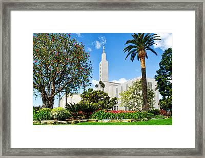 Lush La Temple Framed Print by La Rae  Roberts