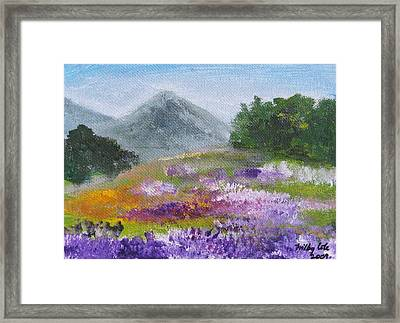 Framed Print featuring the painting Lush by Trilby Cole