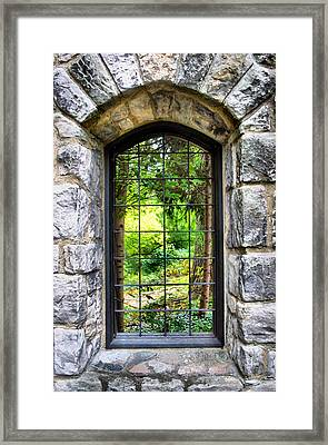Lushness Beyond The Walls Framed Print by Kristin Elmquist