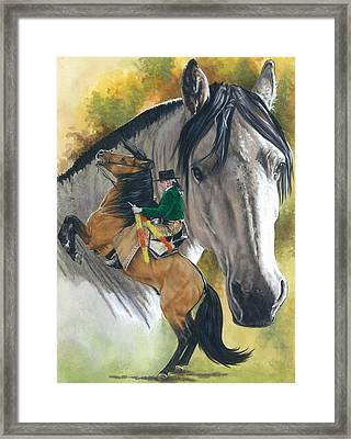 Framed Print featuring the painting Lusitano by Barbara Keith