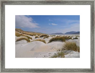 Luskentyre Sand Dunes Framed Print by Nichola Denny
