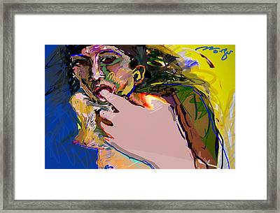 Lust Framed Print by Noredin Morgan