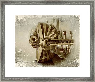 Grey Lutenist Framed Print by Moustafa Al Hatter
