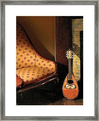 Lute Framed Print by Susan Savad