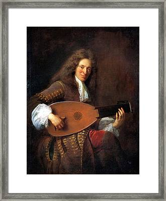 Lutenist Framed Print by Celestial Images