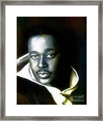 Luther Vandross - Singer  Framed Print