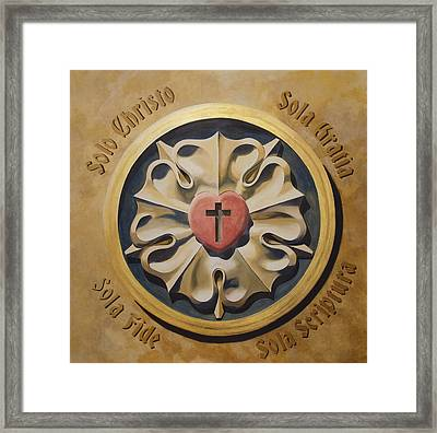 Luthers Rose Interpretation Framed Print by Joyce Hutchinson