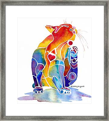Luv Cat Framed Print