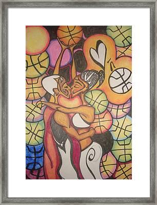 Luv N B'ball Framed Print by Chibuzor Ejims