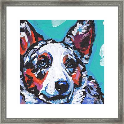 Luv The  Cardi Framed Print by Lea S