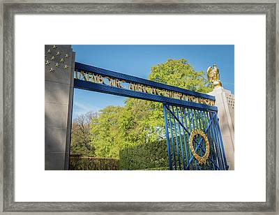 Luxembourg American Cemetery  And Memorial - Luxembourg City  Luxembourg Framed Print