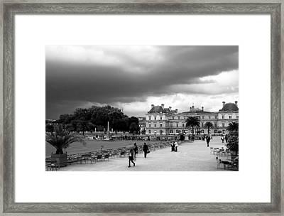 Luxembourg Gardens 2bw Framed Print