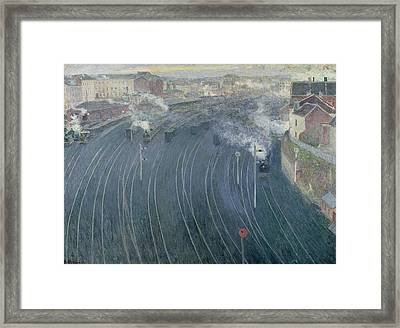 Luxembourg Station Framed Print