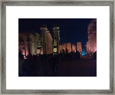 Luxor City In Egypt Framed Print by Samar Abdelmonem