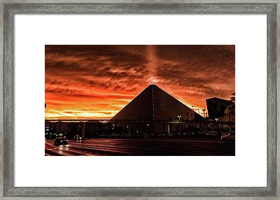 Framed Print featuring the photograph Luxor Las Vegas by Michael Rogers