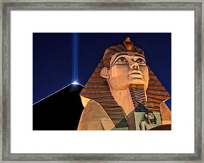 Framed Print featuring the photograph Luxor by Tammy Espino